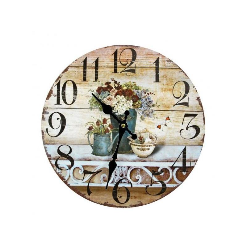 Nástenné hodiny kvetiny B 30cm