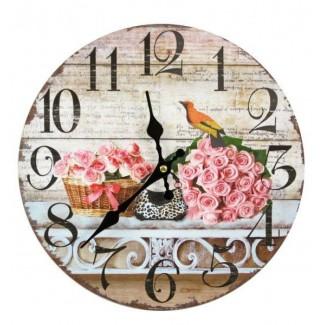 Nástenné hodiny ruže 30cm