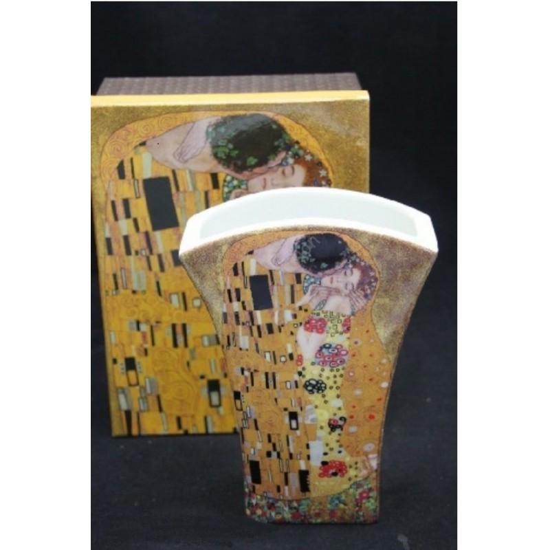 Porcelánová váza 20cm vzor Klimt