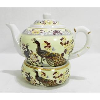 Čajník s ohrevom vzor páv