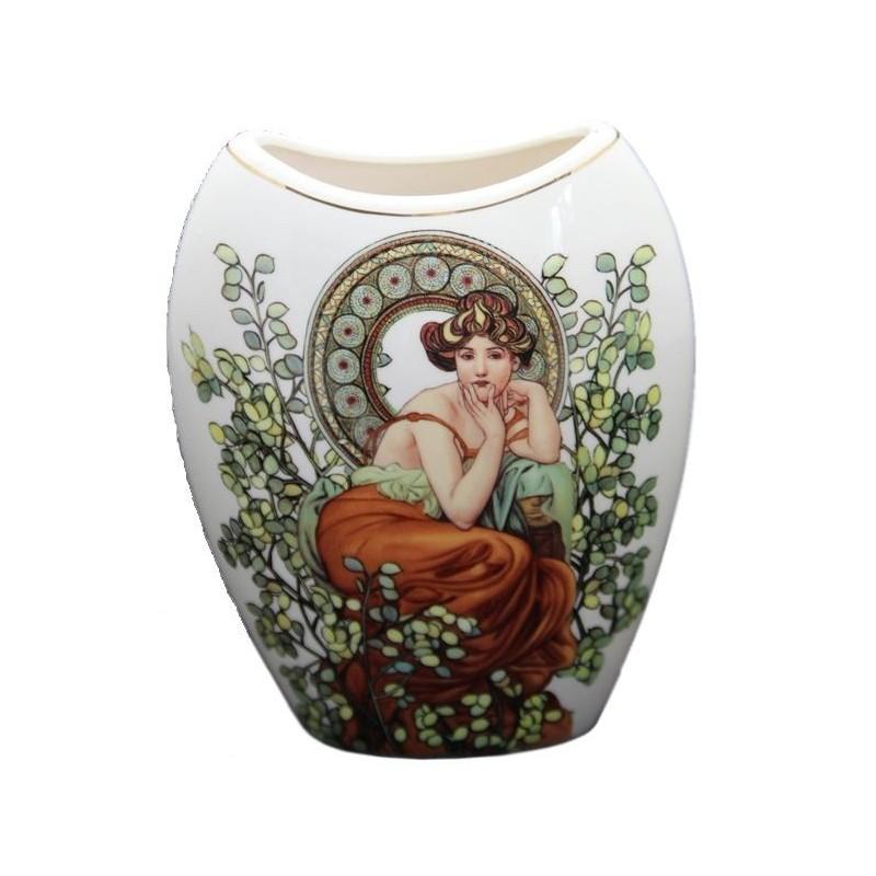 Porcelánová váza 20cm vzor A. Mucha