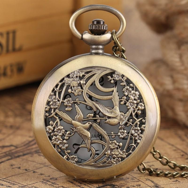 Vreckové hodinky letiace vtáky