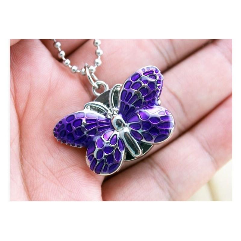 Vreckové hodinky Motýľ fialový