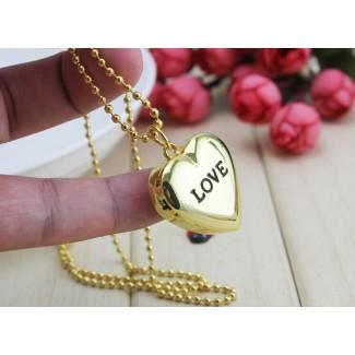 Vreckové hodinky Love zlaté