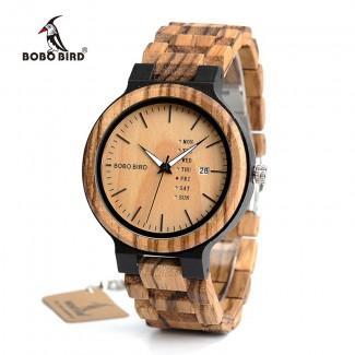 BOBO BIRD drevené náramkové hodinky BBD 001, drevené hodinky