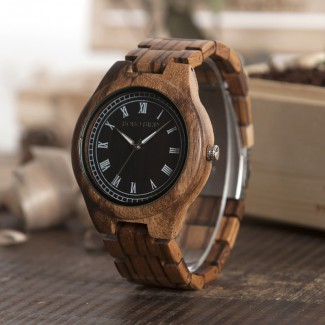 BOBO BIRD drevené náramkové hodinky BBD 002, drevené hodinky