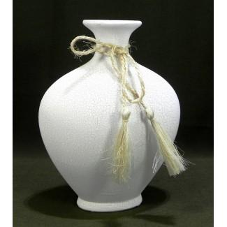 Biela keramická váza 25