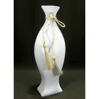Biela keramická váza 35,5