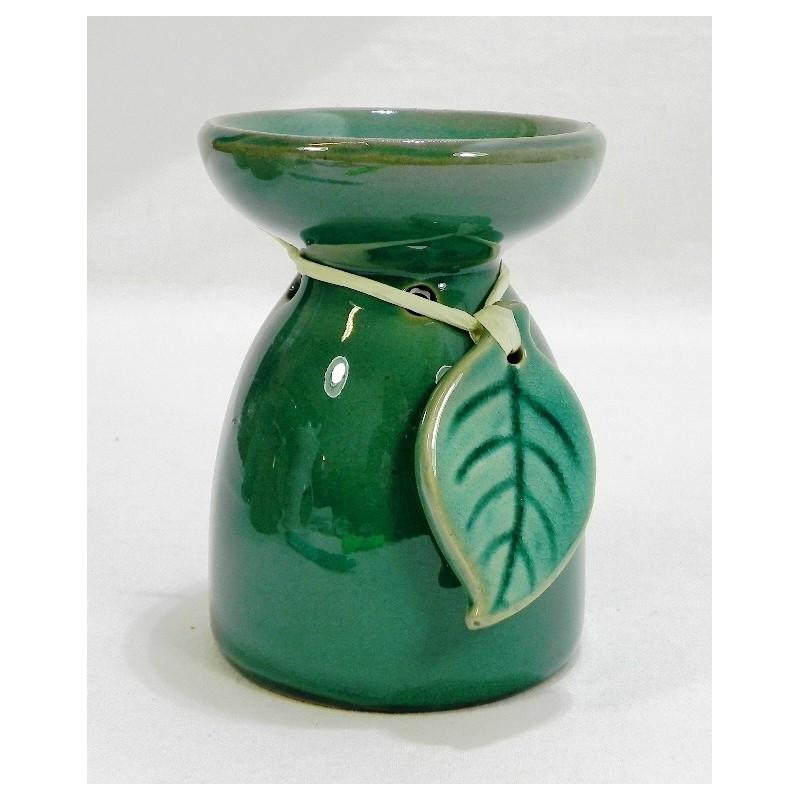 Aromalampa s listom zelená
