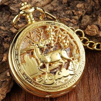 Mechanické vreckové hodinky Jeleň