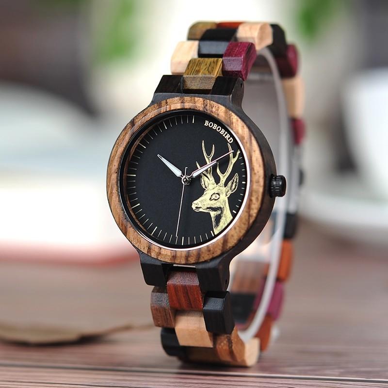 BOBO BIRD drevené náramkové hodinky BBDW 003