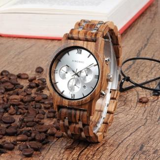 BOBO BIRD drevené náramkové hodinky BBD 005, drevené hodinky