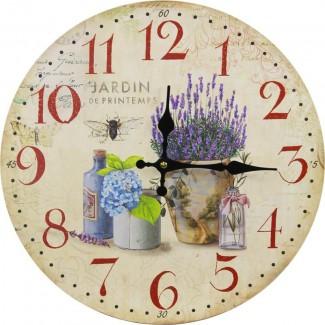 Nástenné hodiny levanduľa Jardin 34