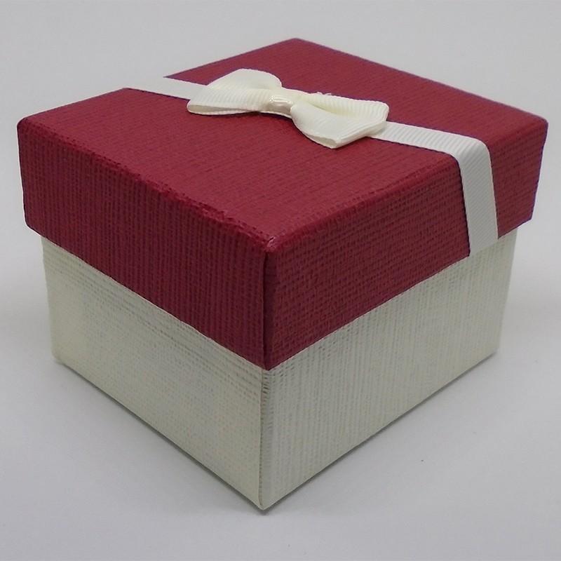 Darčeková krabička červenobiela