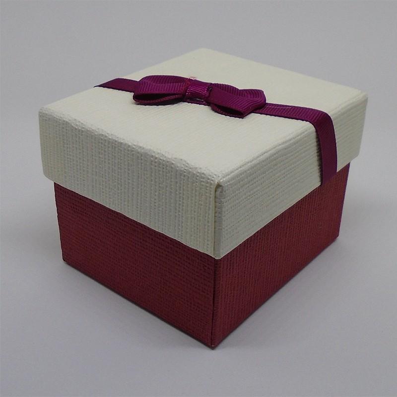 Darčeková krabička bieločervená