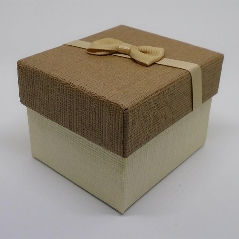 Darčeková krabička hnedokrémová