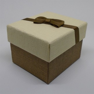 Darčeková krabička krémovohnedá