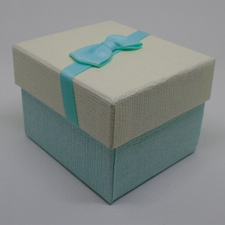 Darčeková krabička bielosvetlomodrá