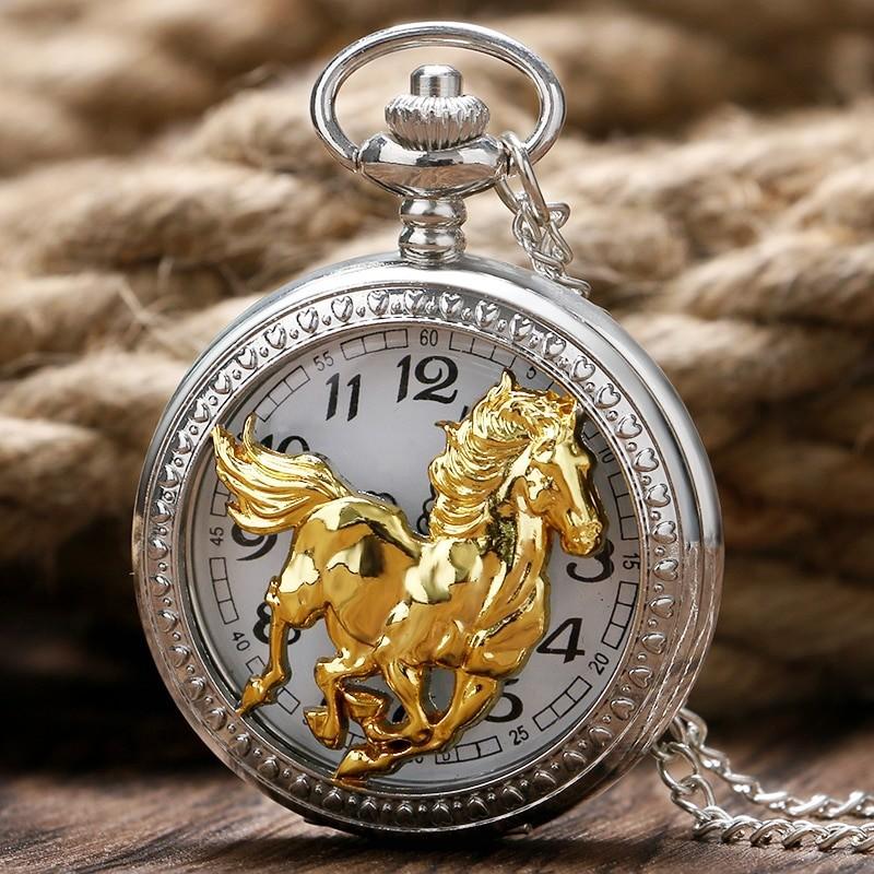 Vreckové hodinky Zlatý kôň