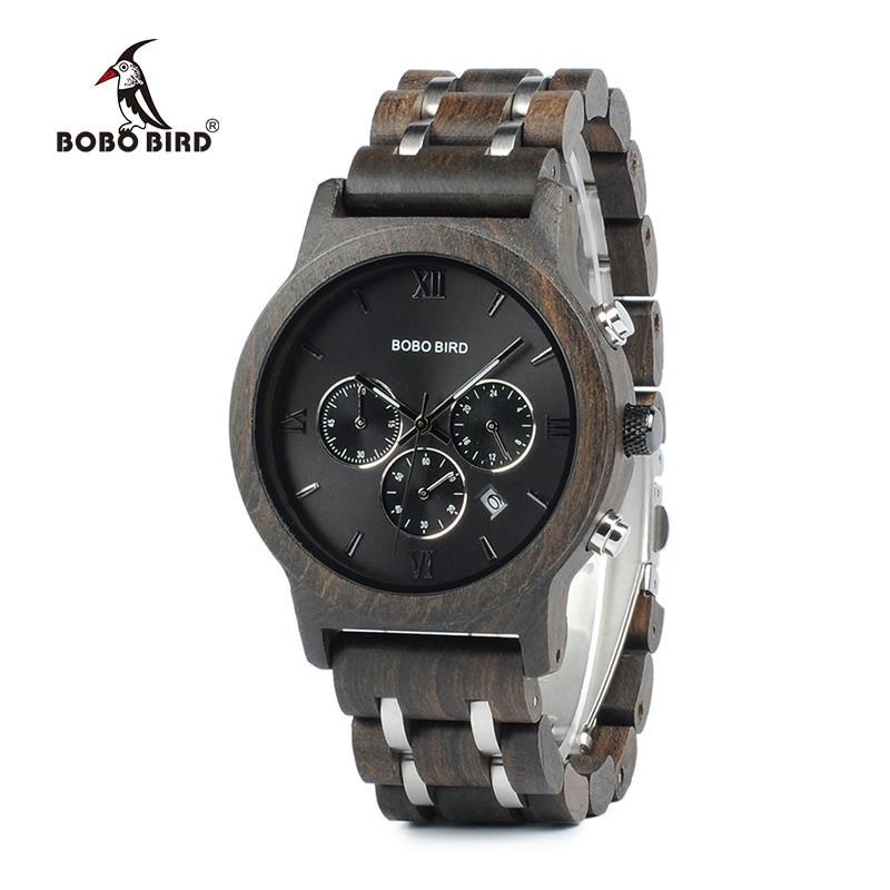 BOBO BIRD drevené náramkové hodinky BBD T07