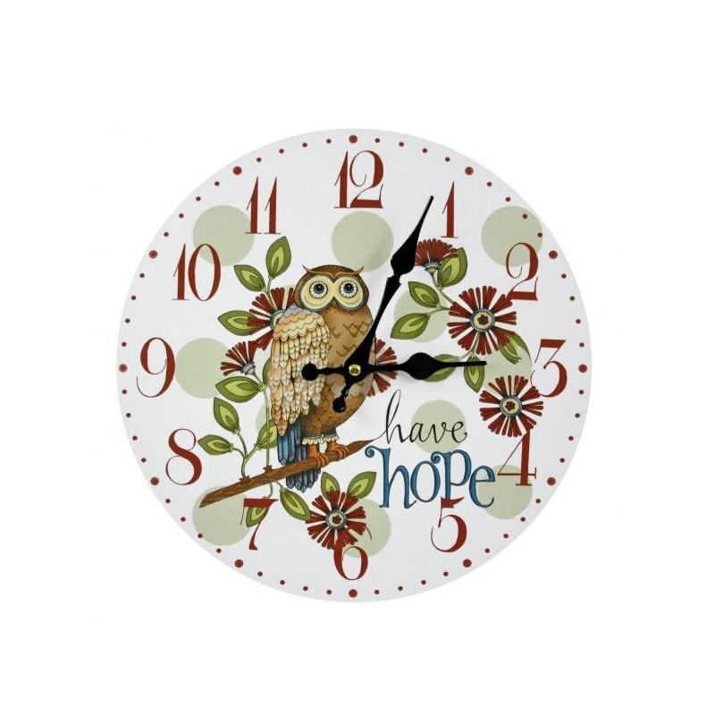 Nástenné hodiny sova 30cm