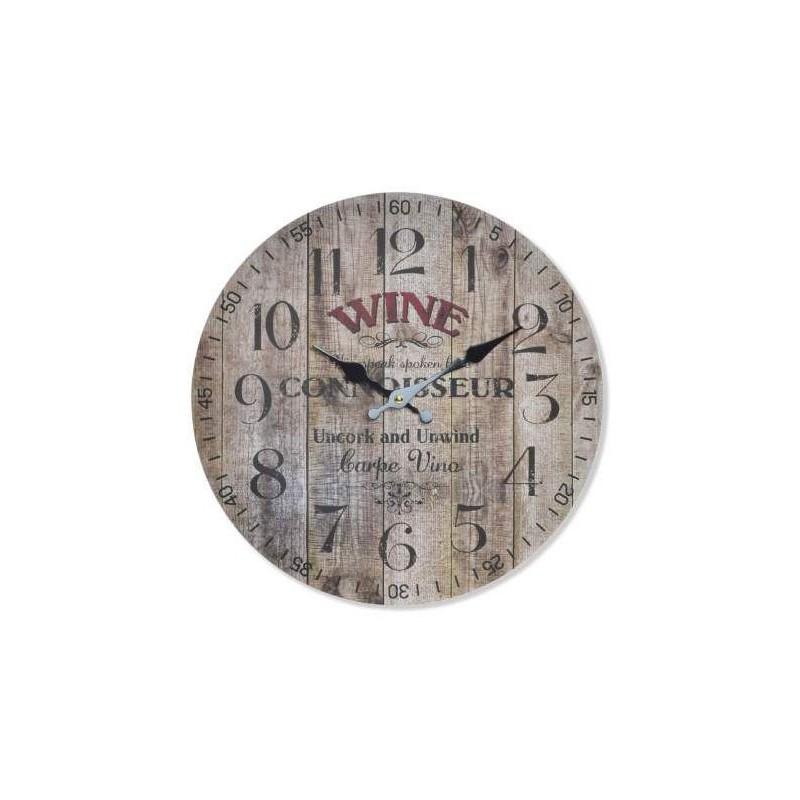 Nástenné hodiny Wine 34cm